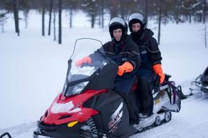 Anita & Ben Snowmobiling