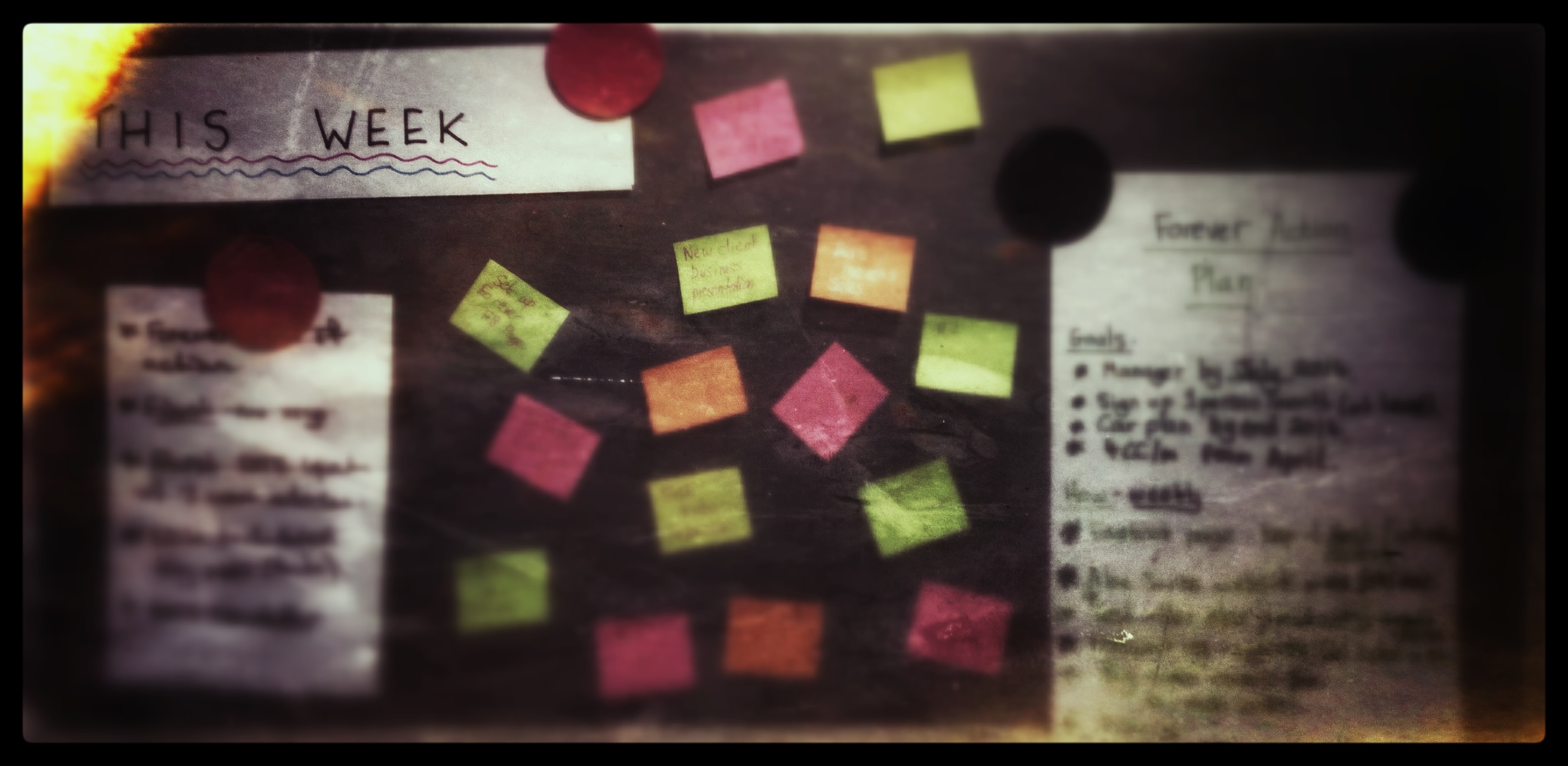 To do list notice board