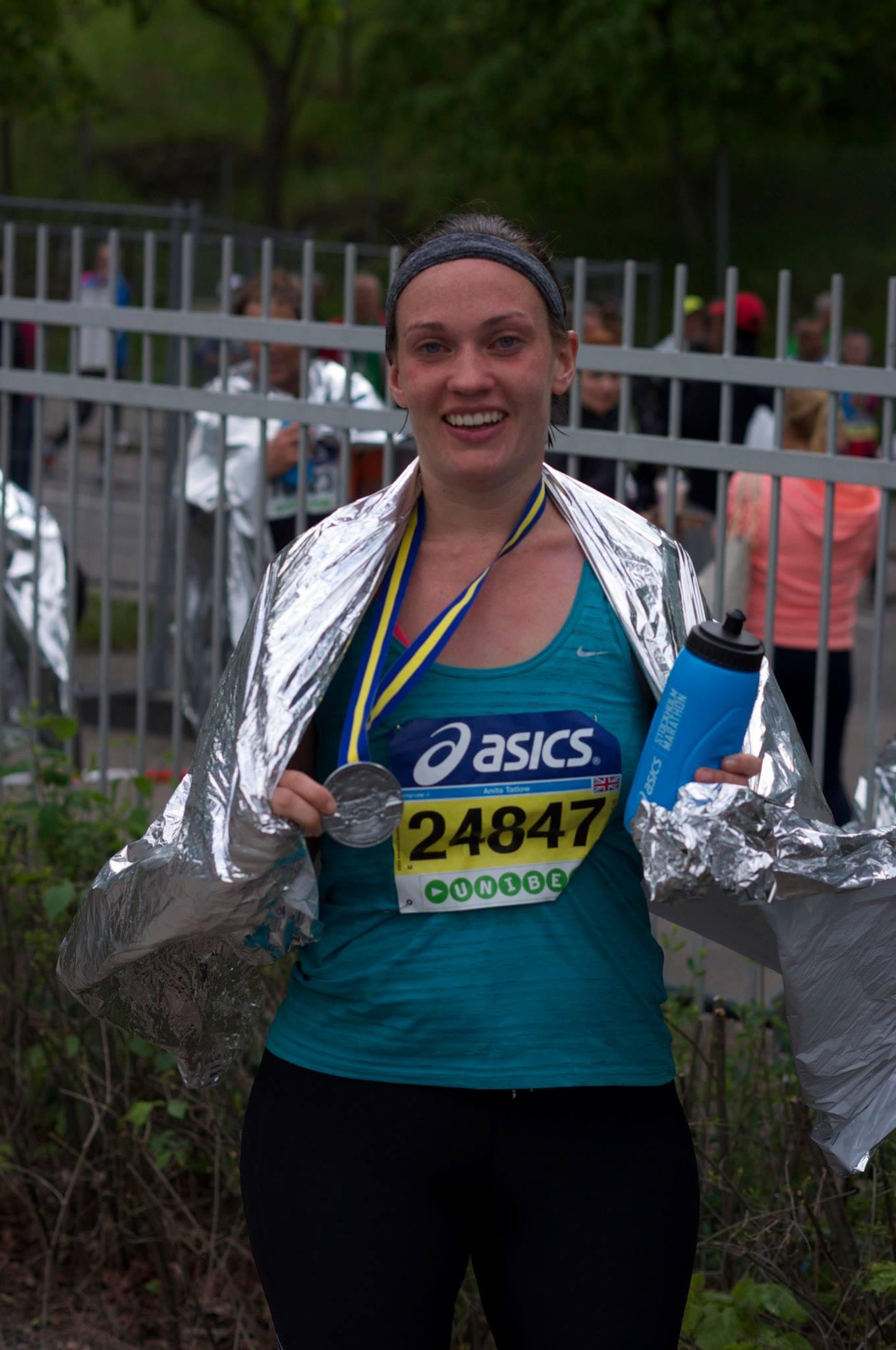 Anita running the marathon 3