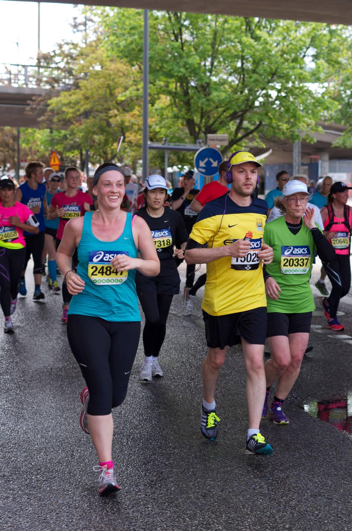 Anita running the marathon
