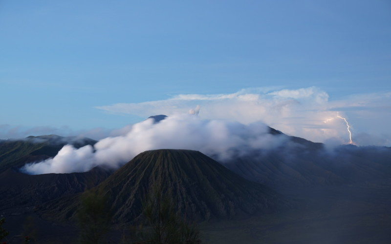 Mt. Bromo: Capturing the lightning storms