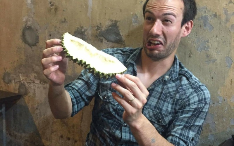 Ben's dislike of the Durian Fruit in Singapore
