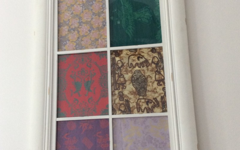 Display of fabrics collected from around the world