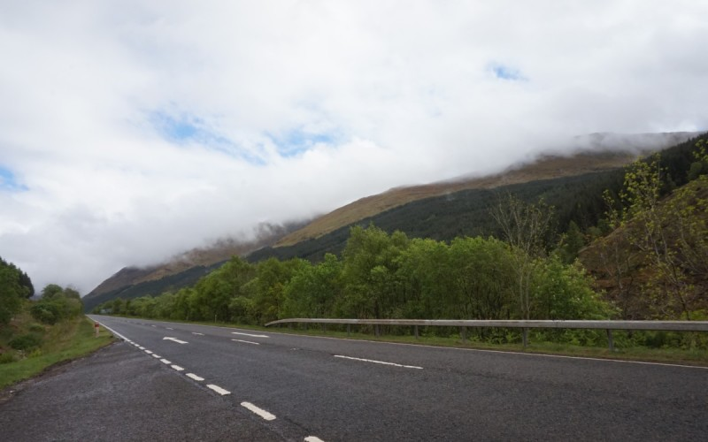 The road though mainland Scotland